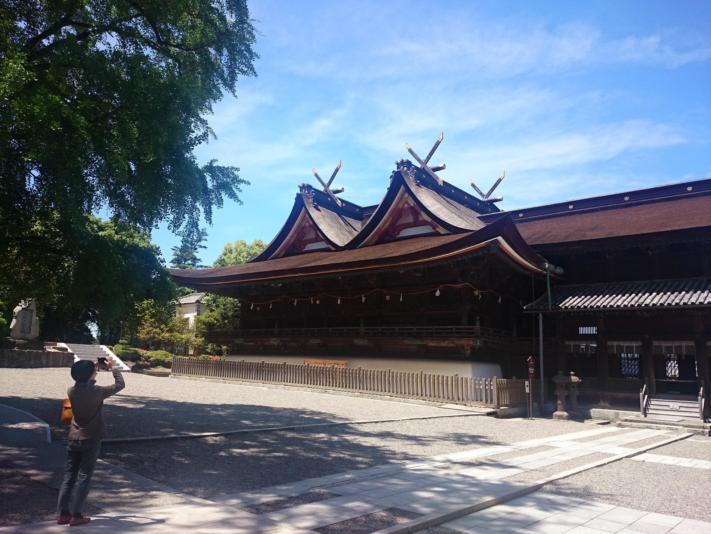 吉備津神社本殿遠景